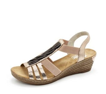 Rieker Wedge Sandal with Detail Panel - 164052