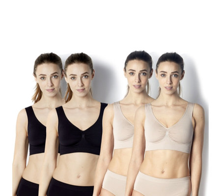 Vercella Vita Medium Control Bras with Underbust Support Pack of 4