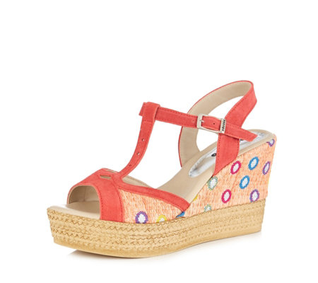 Adesso Gabby Printed Wedge Sandal