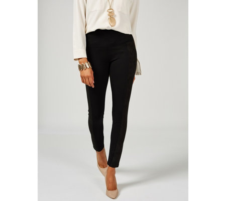 MarlaWynne Faux Suede Side Panel Solution Legging
