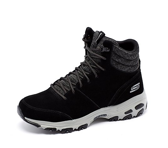 Skechers D Lites Chill Fluffy Short Lace Boot