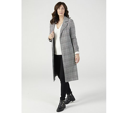 Helene Berman Longline Check Coat
