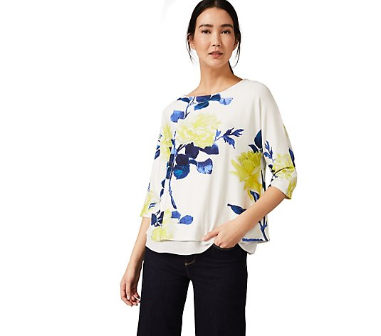 Phase Eight Bloom Floral Double Layer Top