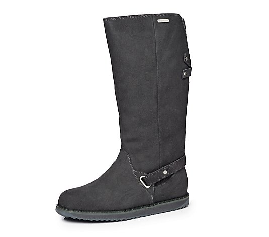 Outlet Emu All Weather Kemmie Knee High Suede Zip Boot
