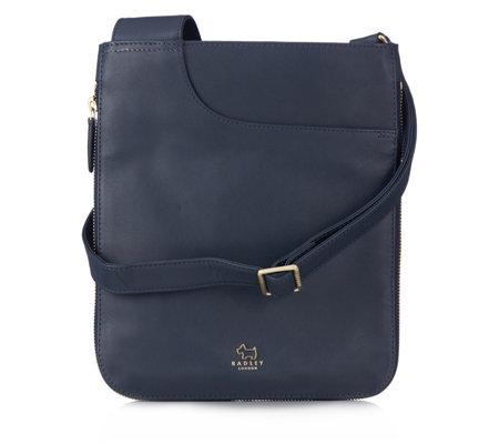 9805f10e3515 Radley London Pockets Medium Leather Zip Top Crossbody Bag - QVC UK