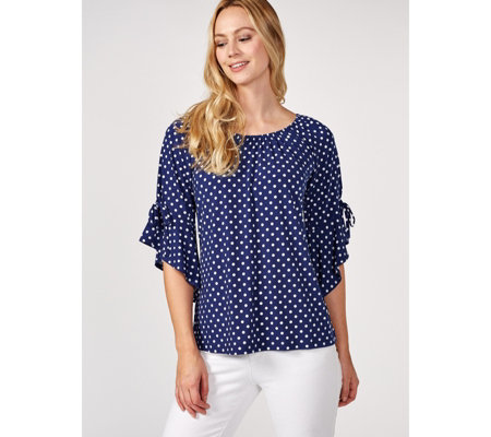 Attitudes by Renee Flounce Flutter Sleeve Top