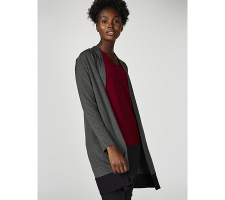 Dennis by Dennis Basso Colour-Blocked Soft Touch Duster Cardigan