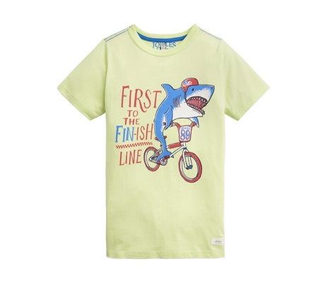 Joules Boys Ben Screen Print T Shirt 7-12 Years