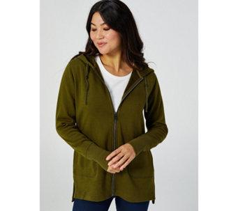 b432f5dab7b0 Isaac Mizrahi Live Soho Zip Up Hooded Sweatshirt - 176154