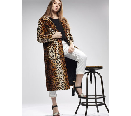 Helene Berman Animal Print Edge to Edge Coat