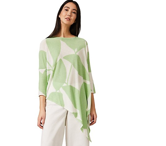 Phase Eight Leaf Print Knit Top