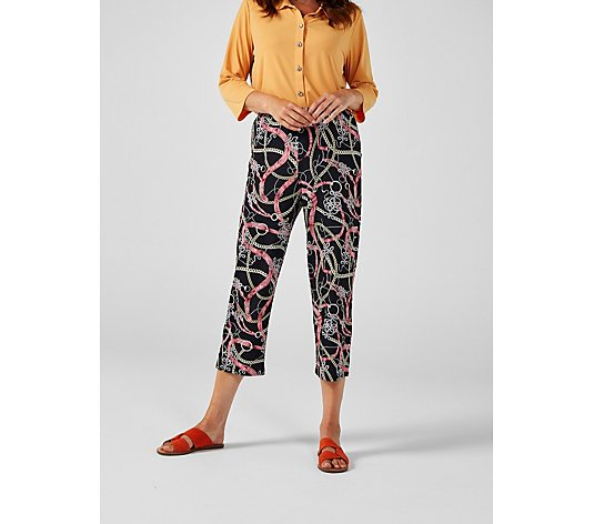 Othello Printed Crop Trousers by Michele Hope