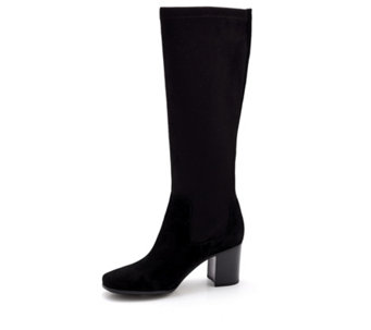 Clarks Kensett Daphne Knee High Boot with Stacked Heel - 167055
