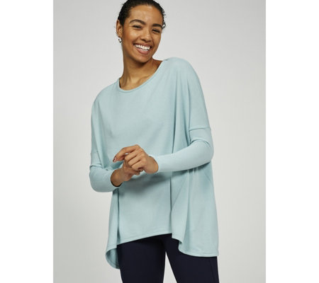 Kim & Co Soft Touch Long Sleeve Godet Insert Tunic