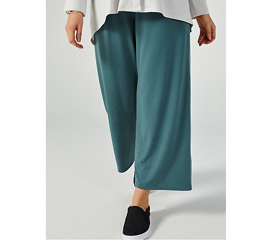 black M L teal Nicole collection wide leg trousers palazzo S slate navy