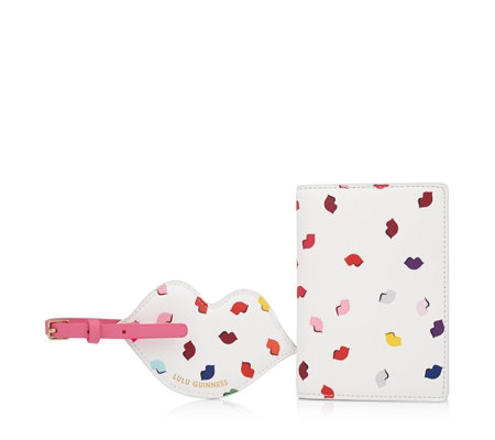 Lulu Guinness Passport Holder & Luggage Tag Travel Set
