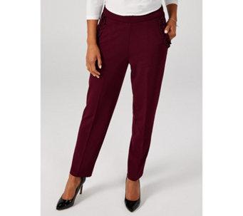 2bf2391f3b6 High Tech Crepe Trouser with Ruffle Pocket by Nina Leonard - 175456