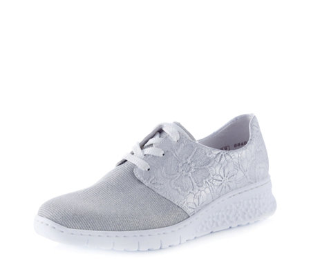 Rieker Metallic Shimmer Lace Up Trainer