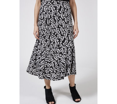 Kim & Co Printed Brazil Jersey Double Flounce Skirt