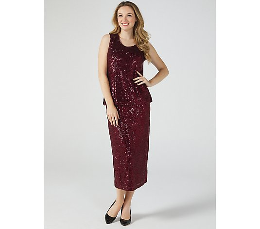Sequin Scoop Neck Camisole by Michele Hope