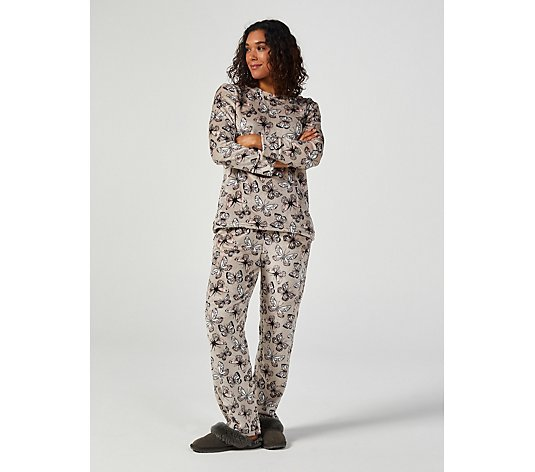 Cozee Home Printed Velvetsoft PJ Set