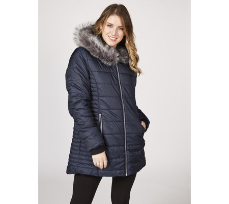 Centigrade Quilted Bodycon Panel Coat