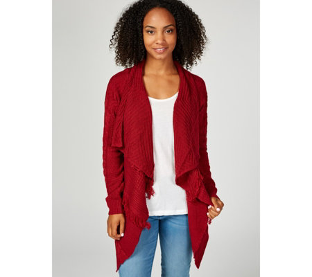 Joe Browns Shawl Collar & Fringe Detail Knit Cardigan
