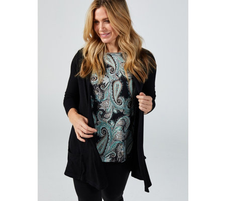 Kim & Co Lux Sweater Knit Long Sleeve Cardigan with Pockets