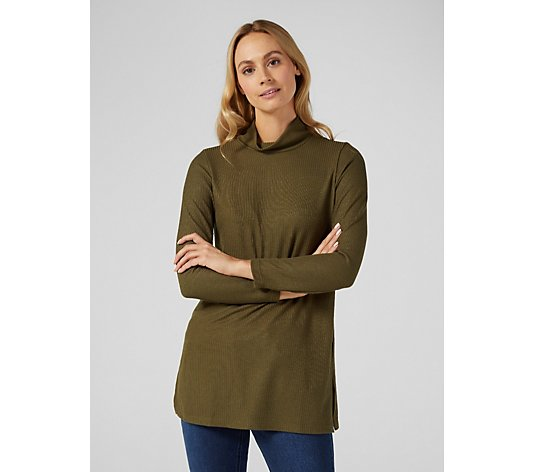 Mr Max Rib Knit Long Sleeve Tunic