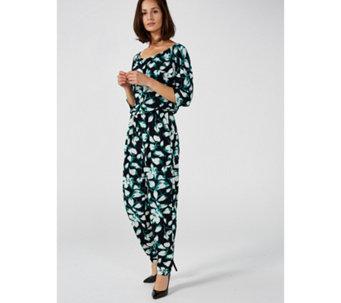 789ba5f0b3b5 Kim   Co Brazil Jersey Dolman Sleeve Petite Jumpsuit - 169358