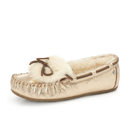 Emu Nest Collection Amity Cuff Crackled Slipper