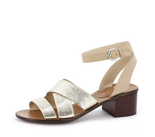 Outlet Marc Fisher Omela Leather Block Heel Sandal