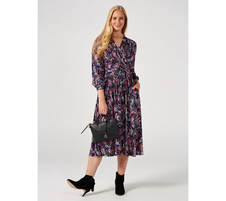 Onjenu London Sharon Printed Midi Dress