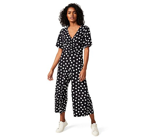 Phase Eight Jersey Spot Culotte Jumpsuit