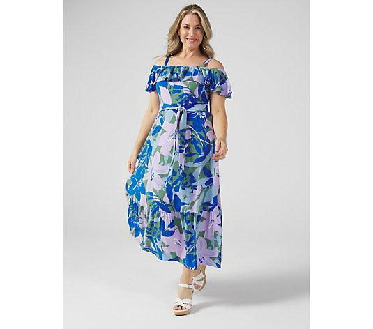 WULI:LUU by Gok Wan Off Shoulder Maxi Dress Petite