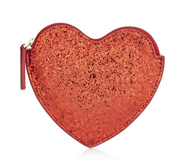 Lulu Guinness Lulu Guinness Glitter Heart Coin Purse - 167859