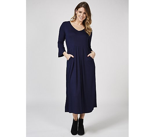 Together Fluted Sleeves Midi Dress