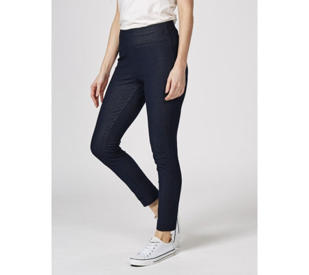 Kim & Co Delux Denim Jersey Pull On Skinny Trousers Petite Length