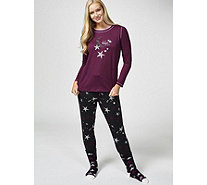 Cuddl Duds Cozy Jersey Novelty PJ Set with Socks - 174059