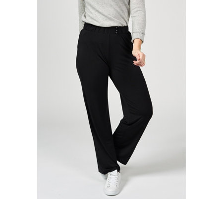Button Detail Trousers by Michele Hope