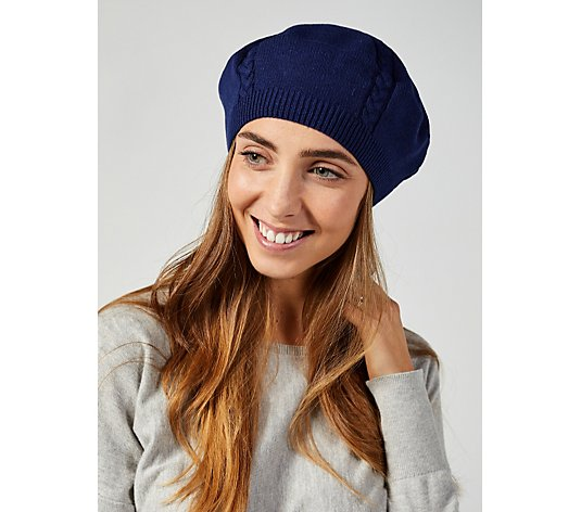 Attitudes By Renee Cable Knit Beret