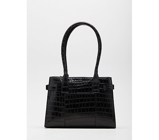 Ashwood Erin Small Double Comp Croc Shoulder