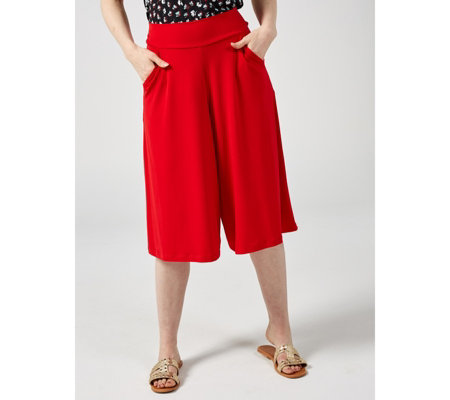 Kim & Co Brazil Knit Gaucho Trousers with Pockets