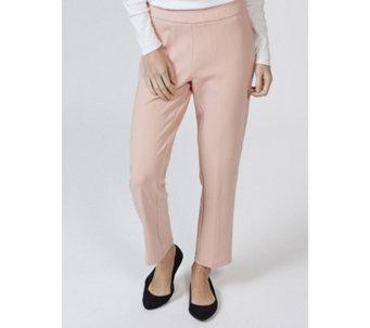07da95d5357 Stretch Crepe Slim Leg Petite Trouser by Nina Leonard - 166360