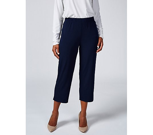 "Kim & Co Brazil Jersey 1.5"" Elastic Waistband Cropped Trouser"