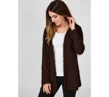 Kim & Co Eyelash Knit Long Sleeve Cardigan
