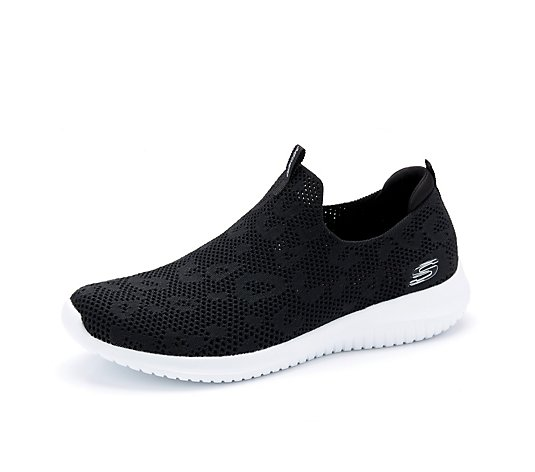 Skechers Ultra Flex Fast Talker Stretch Fit Knit Sock Bootie Trainer