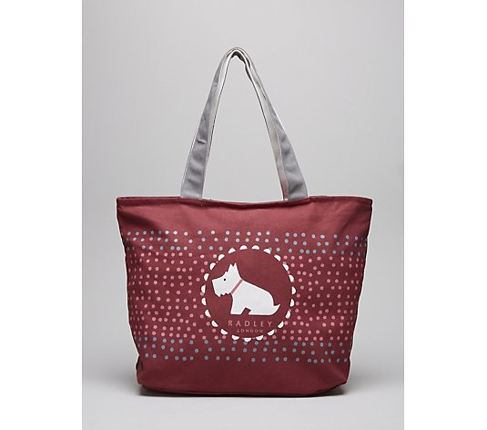 Radley Going Dotty Large Canvas Tote