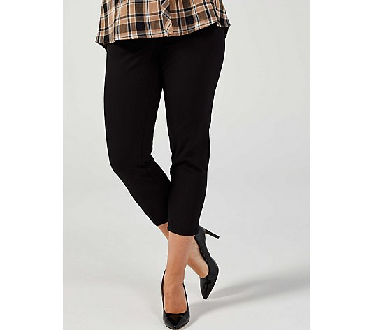 Isaac Mizrahi Live 24/7 Stretch Slim Ankle Pull On Trousers Petite