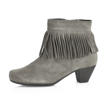 Vitaform Suede Leather Ankle Boot - 162461